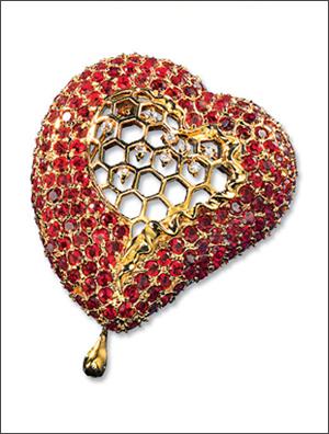 Salvador Dali - Honeycomb Heart