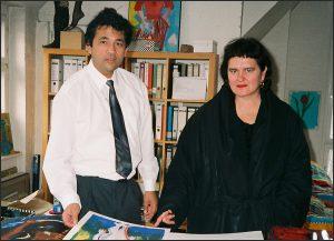 Marco Bodenstein mit Elvira Bach