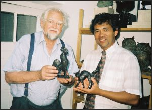 Marco Bodenstein mit Kurt Arentz
