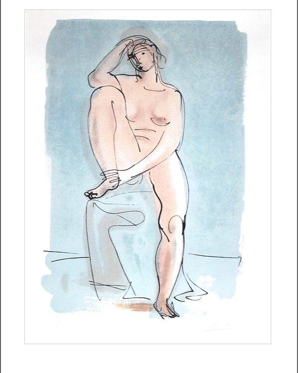 Arno Breker - Sitzende in Blau