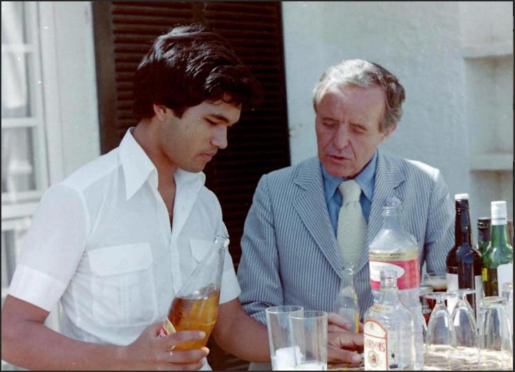Marco Bodenstein mit Peter Moore