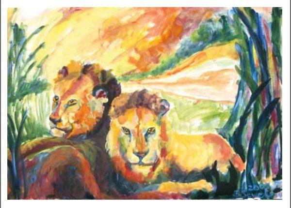 Birgit Sewekow - Zwei Löwen